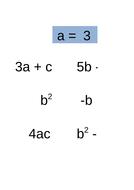 Quadratic Formula Substitution
