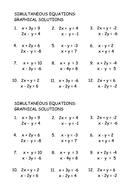 Simultaneous Equations: Graphs