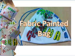 fabric painted bag mini project