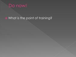 tedium principle of training definition