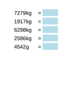Converting metric units of weight and capacity