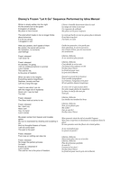 Let it go lyrics