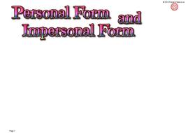 e0075PersonalandImpersonalFormfc-PrimaryClass.co.uk.ppt
