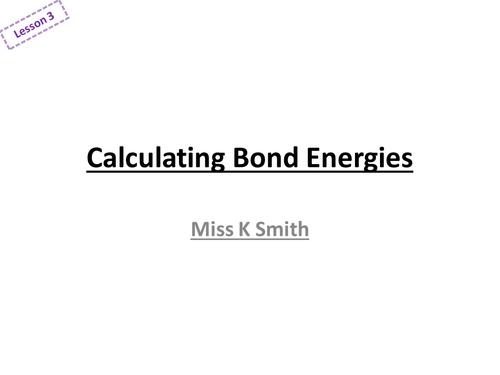 AQA Calculating Bond Energy by ksmith88 Teaching Resources TES – Bond Energy Worksheet