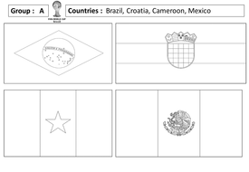 World Cup 2014 - Group Flags