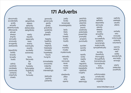 171 adverbs learning mat