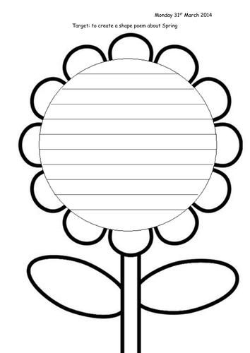 Flower Shape Poem Template - FREE DOWNLOAD - Freemium ...