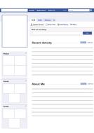 Blank Facebook Profile Worksheet / Activity