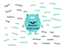 Monster Adjectives By Izzyd1 Teaching Resources