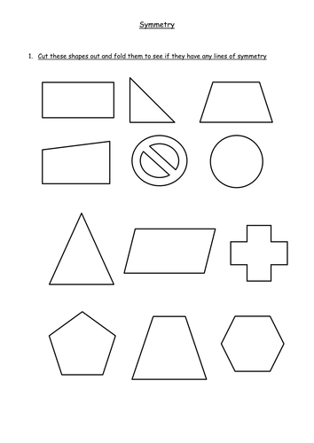 Drawing Lines Of Symmetry Worksheets Ks : Symmetry lines and rotational ks by