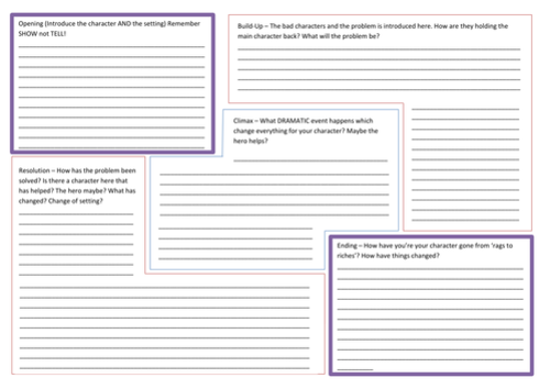 Story Writing Planning Template By Nahoughton Uk