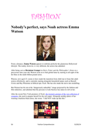 Fashion comprehension - Emma Watson