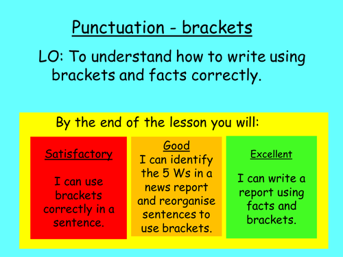 Brackets lesson - 3 level differentiation by katiewellbrook ...