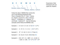 BIDMAS Rules