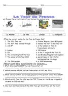 Tour de France 2014 worksheet.doc