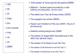 Tour de France match up facts.docx