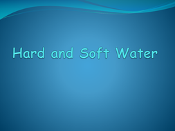 Hard and soft water C3 AQA