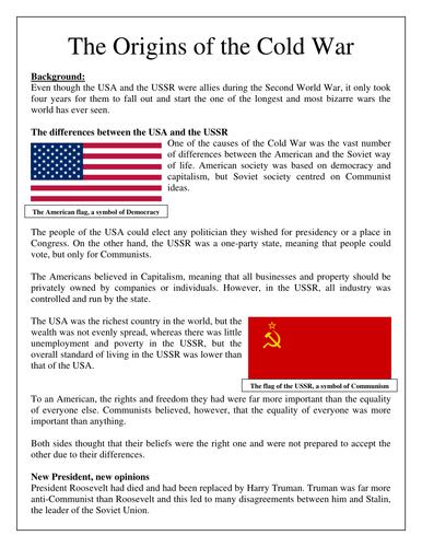 Printables Origins Of The Cold War Worksheet origins of the cold war scheme learning by rmbell33 teaching resources tes
