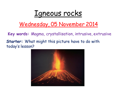 Igneous rocks by zuba102 Teaching Resources Tes – Igneous Rocks Worksheet