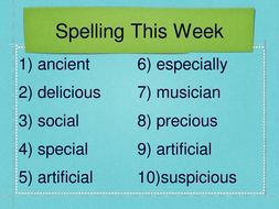 Nouns (with spelling words)