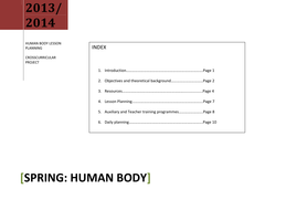 LESSON PLAN ON HUMAN BODY