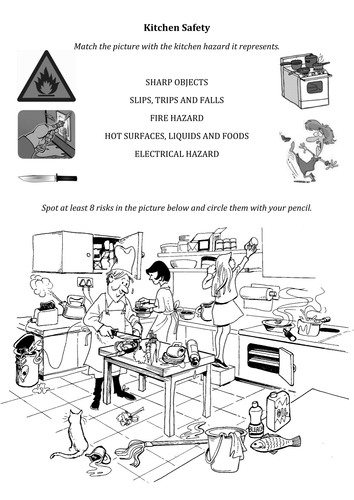 Worksheets Kitchen Safety Worksheets kitchen safety by amcglasson teaching resources tes asn docx