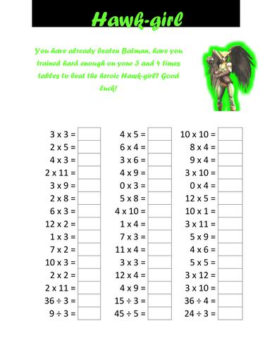 Number Names Worksheets : times tables tests ~ Free Printable ...