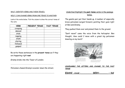 All Worksheets past and present tense worksheets ks2 : SPAG VERB TENSES REVISION by joridd - Teaching Resources - TES