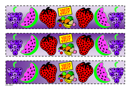 Fresh Fruits Themed Cut-out Border
