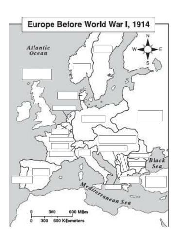 Maps to show Europe before and after World War 1 by alexstronach70