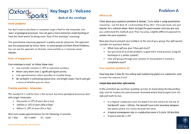 Oxford Sparks: Underwater Volcano Disaster - KS5