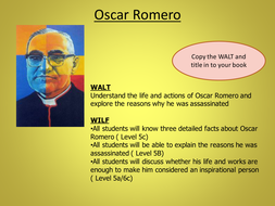 oscar romero essay Theology term papers (paper 2314) on oscar romero: if one seeks to fully comprehend the complexity surrounding the life and untimely death of oscar romero, they must initially be exposed to the notion.
