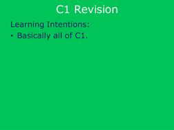 AQA GCSE C1 Revision