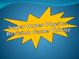 Physics Revision Game