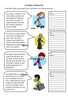 Spanish Part-Time Jobs Worksheet