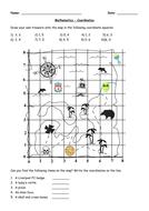 Quick Coordinates Worksheet