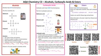 Aqa chemistry c3 revision cards by dkohls teaching resources tes c3 alcohol carboxylic acids estersv2 final versionpdf urtaz Choice Image