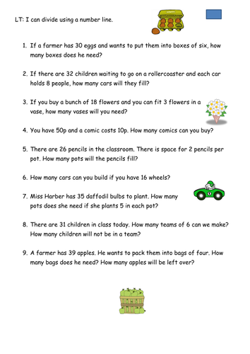 Grouping division word problems by Rachael_H - Teaching Resources ...