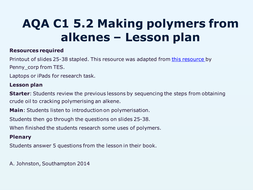 AQA-C1-5.2-Making polymers from alkenes.pptx