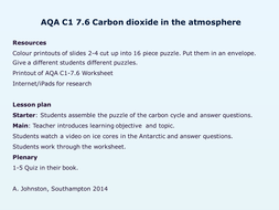 AQA-C1-7.6-Carbon dioxide in the atmosphere.pptx