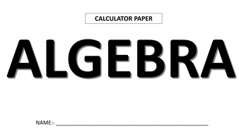 Maths Revision by Topic (Calculator paper)