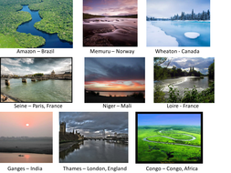 Pictures of Famous Rivers around the World