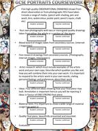 GCSE Portraits Module Tick list