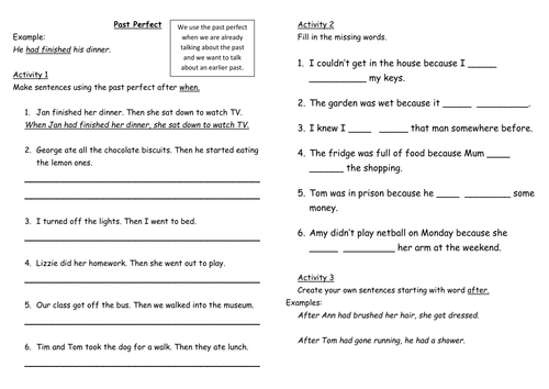 Grammar Worksheets And Games By Victeach Teaching