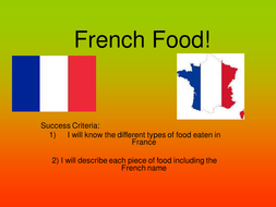 Food in France powerpoint