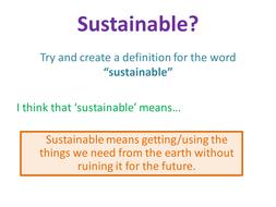 Settlement - Lesson 8 - sustainable communities