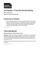 Jon Klassen - If you only do one activity.doc