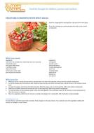 Vegetables crudités with salsa