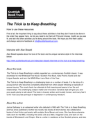 The Trick Is To Keep Breathing Learning Resources
