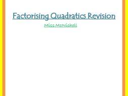 Factorising Quadratics - 1 or 2 brackets?